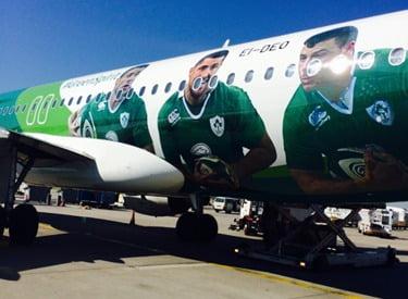 Flew into Frankfurt in Irish style